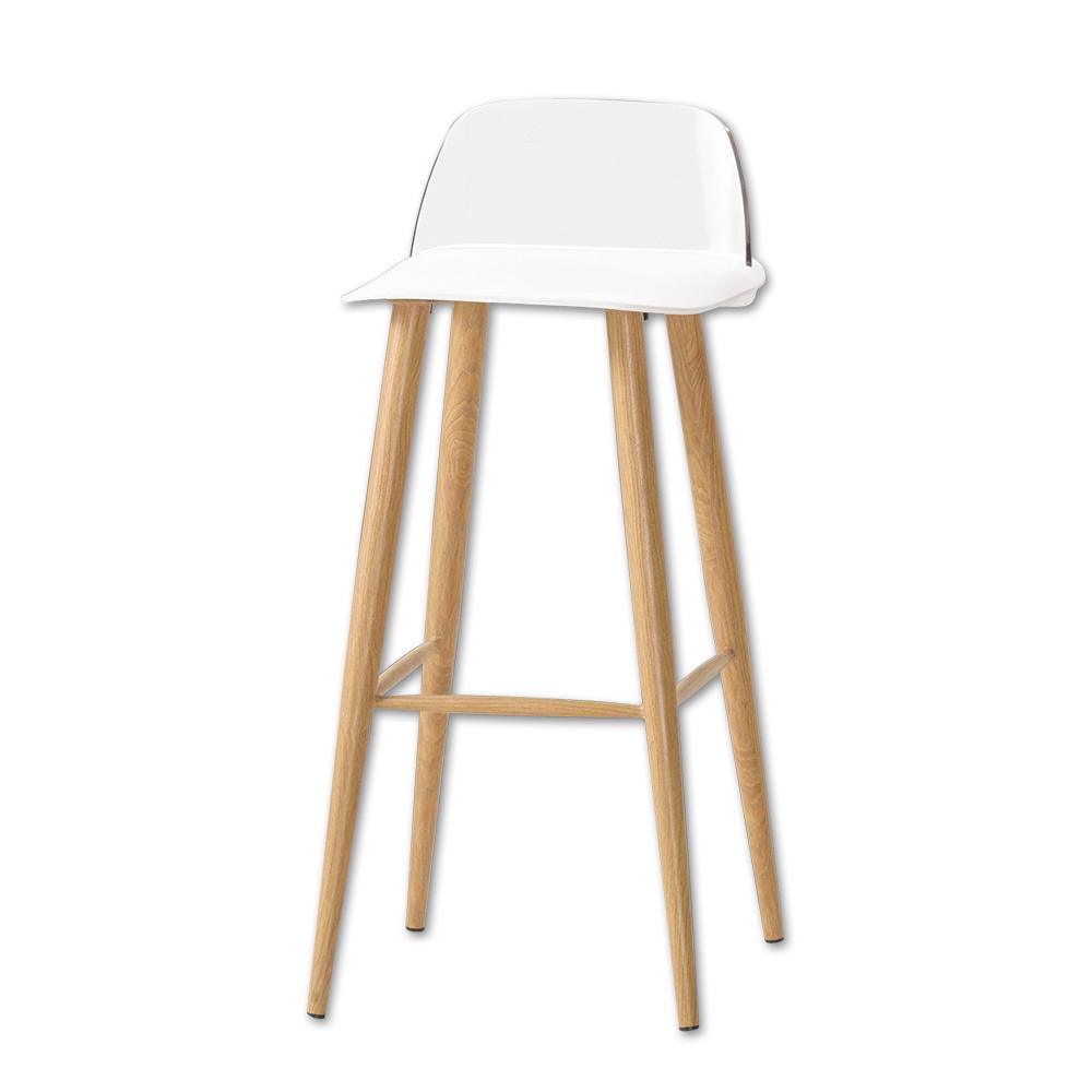 Bernice-維琪簡約休閒吧台椅/高腳椅(三色可選)-二入-41x41x80cm