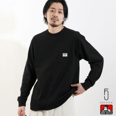 ZIP日本男裝 BEN DAVIS LOGO口袋長袖T恤 (7色)