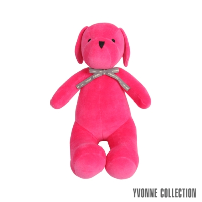 Yvonne Collection 乖乖坐姿狗玩偶-桃粉