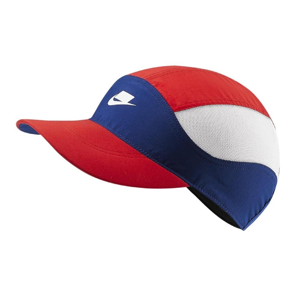 Nike 帽子 Tailwind Checkered Cap NSW 老帽 遮陽 穿搭 撞色 基本款 紅 藍 BV3386492