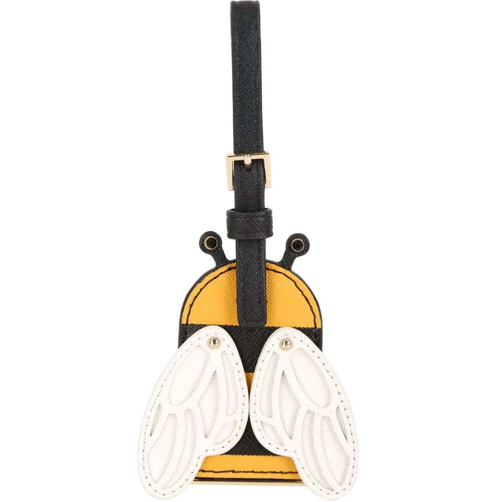 Kate Spade Picnic 蜜蜂造型防刮牛皮行李吊飾