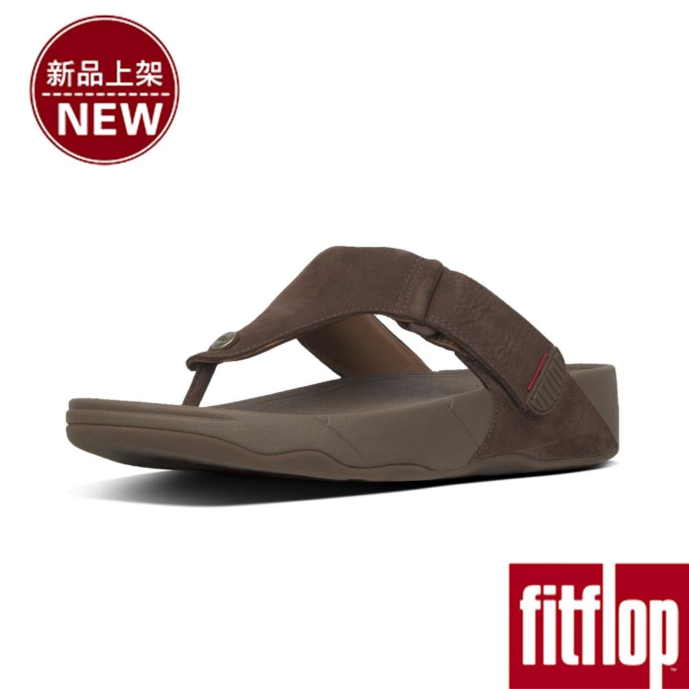 FitFlop TRAKK II LEATHER TOE-THONG-巧克力棕