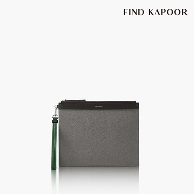 【FIND KAPOOR】CLUTCH 27 十字壓紋系列手拿包- 灰色