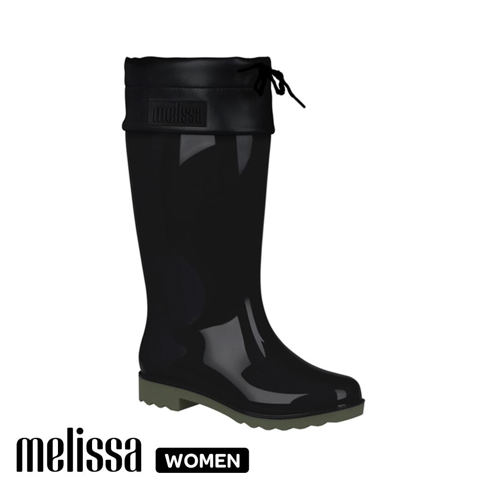 Melissa 親子系列 成人休閒高筒雨鞋-黑色