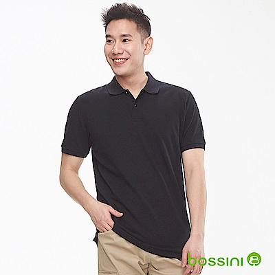 bossini男裝-純棉素色POLO衫19黑