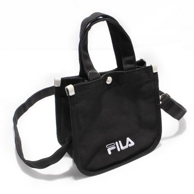 Fila 托特包 Hand Shoulder Tote Bag 斐樂 外出 輕便 手提包 可斜背 穿搭 黑 白 BMV7014BK