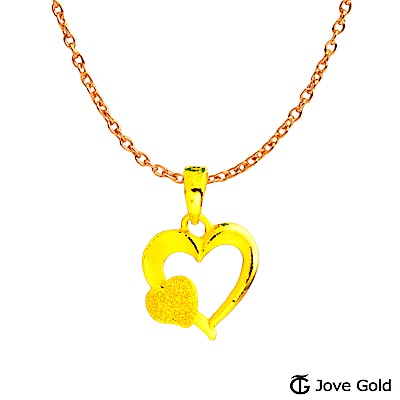 Jove gold 幸福心情黃金墜子 送項鍊