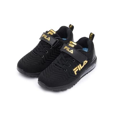FILA KIDS 大童氣墊籃球鞋-黑/金 3-J810V-009