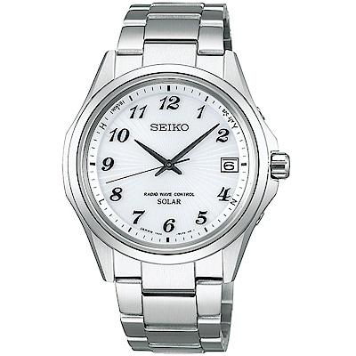 SEIKO精工SPIRIT簡約太陽能電波腕錶(SBTM237J)