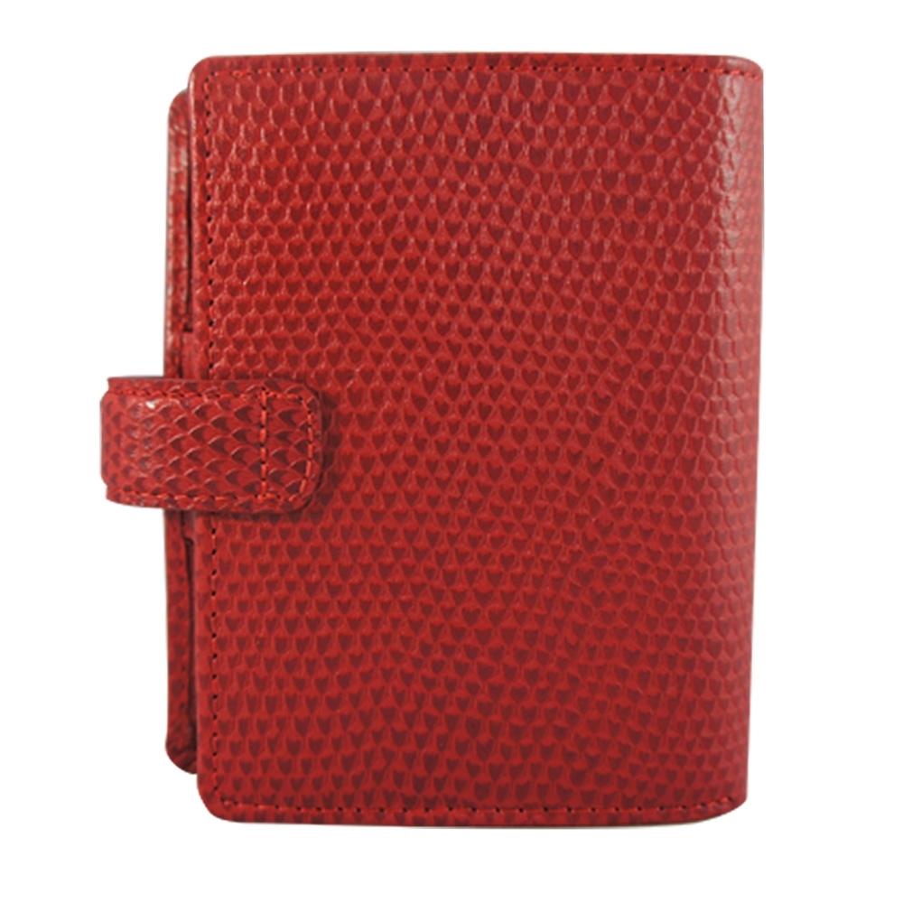 Filofax  PKT CHAMELEON 萬用手冊-紅色
