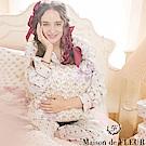 Maison de FLEUR 直條紋花卉圖案睡衣