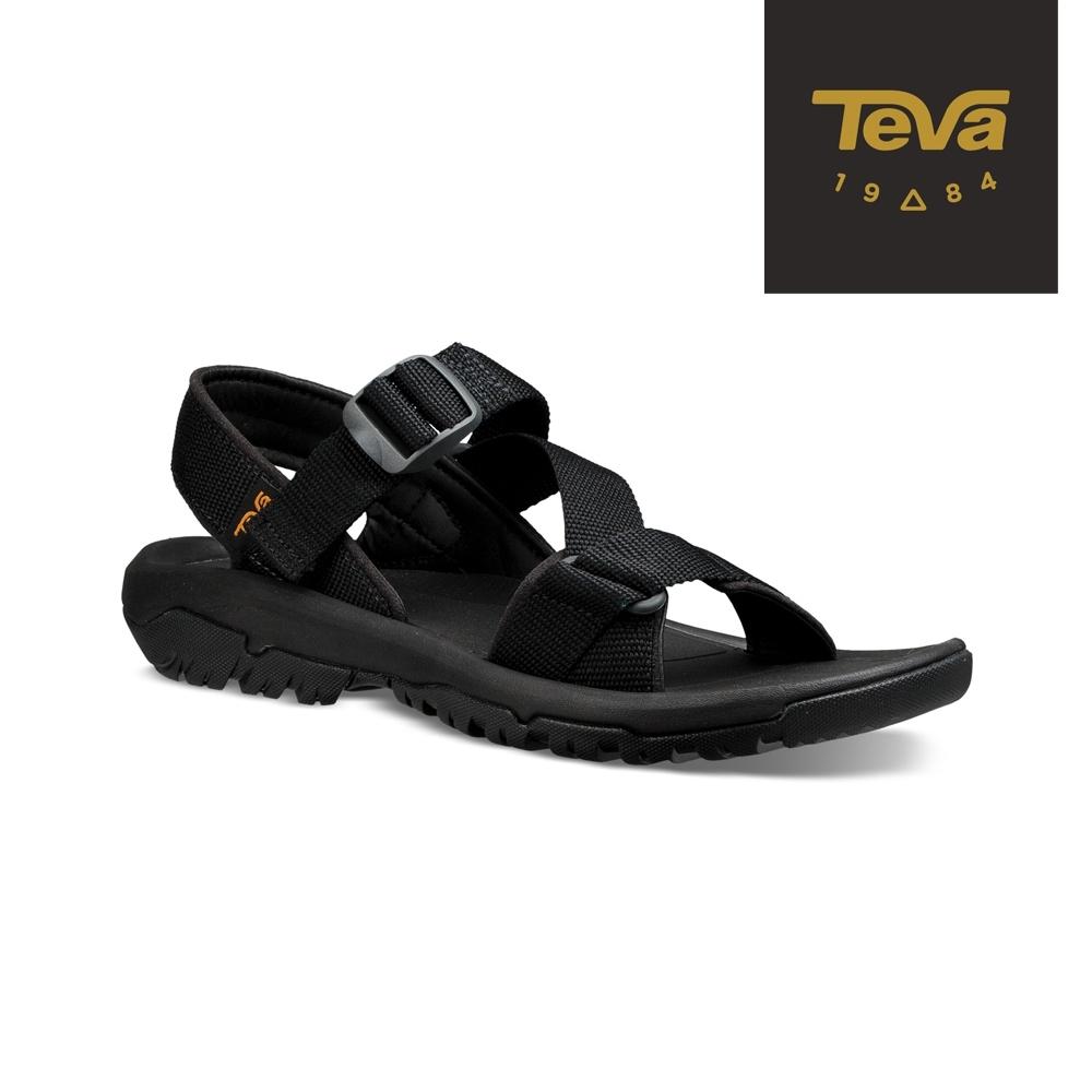 【TEVA】原廠貨 男 Hurricane XLT2 Cross Strap 機能運動涼鞋/雨鞋/水鞋(黑-TV1091589BLK)