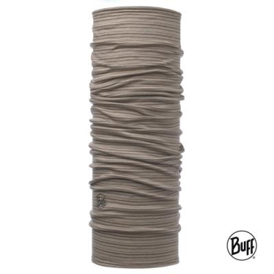 【西班牙BUFF】 榛果棕線 美麗諾羊毛織色頭巾-舒適