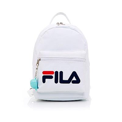 FILA LOGO後背包附鑰匙圈-白 BPT-1402-WT