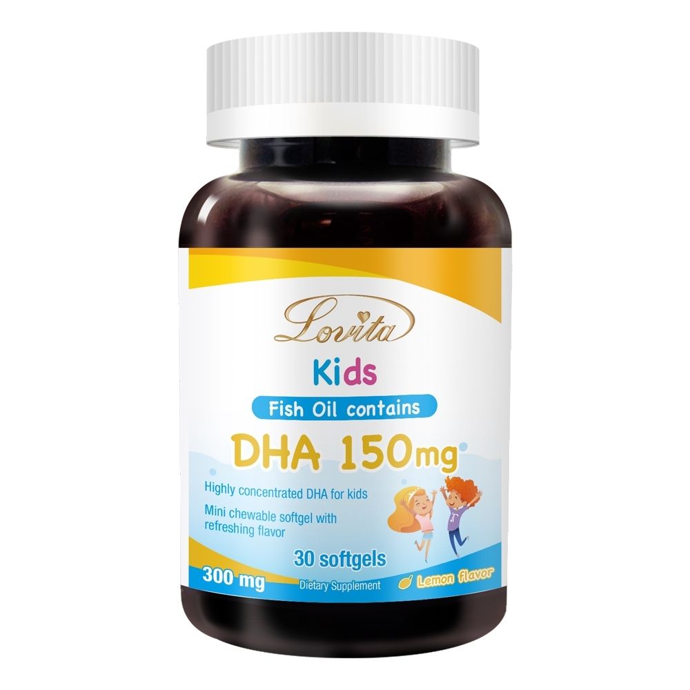 Lovita愛維他 兒童魚油 含DHA150mg軟膠囊 (深海魚油)