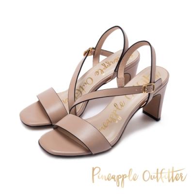 Pineapple Outfitter SANNA 氣質羊皮繫帶高跟鞋-粉藕