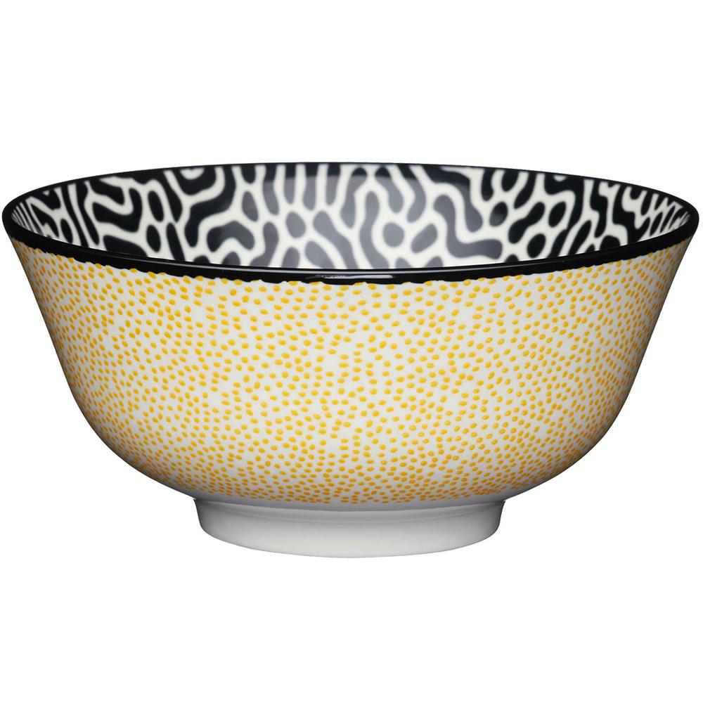 《KitchenCraft》陶製餐碗(細點黃)