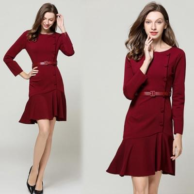 【KEITH-WILL】優雅不敗經典素面洋裝