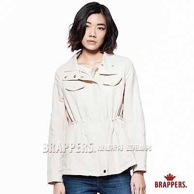 BRAPPERS 女款 休閒個性風衣外套-淺卡其