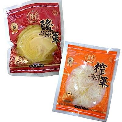 宗益榨菜絲(300gx5包)+鹹酸菜(300gx5包)