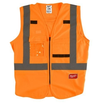 Milwaukee 美沃奇 專業版 工程 反光背心 10個口袋 橘色48-73-5072