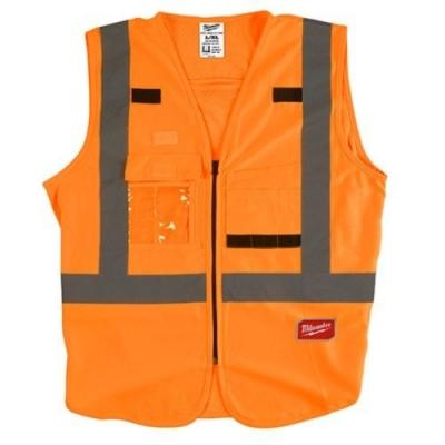 Milwaukee 美沃奇 專業版 工程 反光背心 10個口袋 橘色48-73-5071