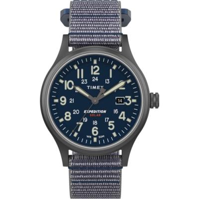 TIMEX 天美時 遠征系列 太陽能探險手錶- 灰藍/40mm