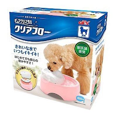 GEX 圓滿平安 犬用靜音型飲水器 粉色 950ml【57300】