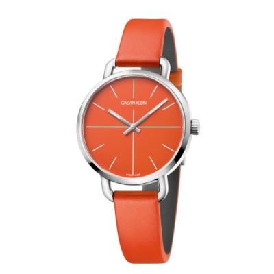 Calvin Klein CK超然系列皮帶腕錶(K7B231YM)36mm