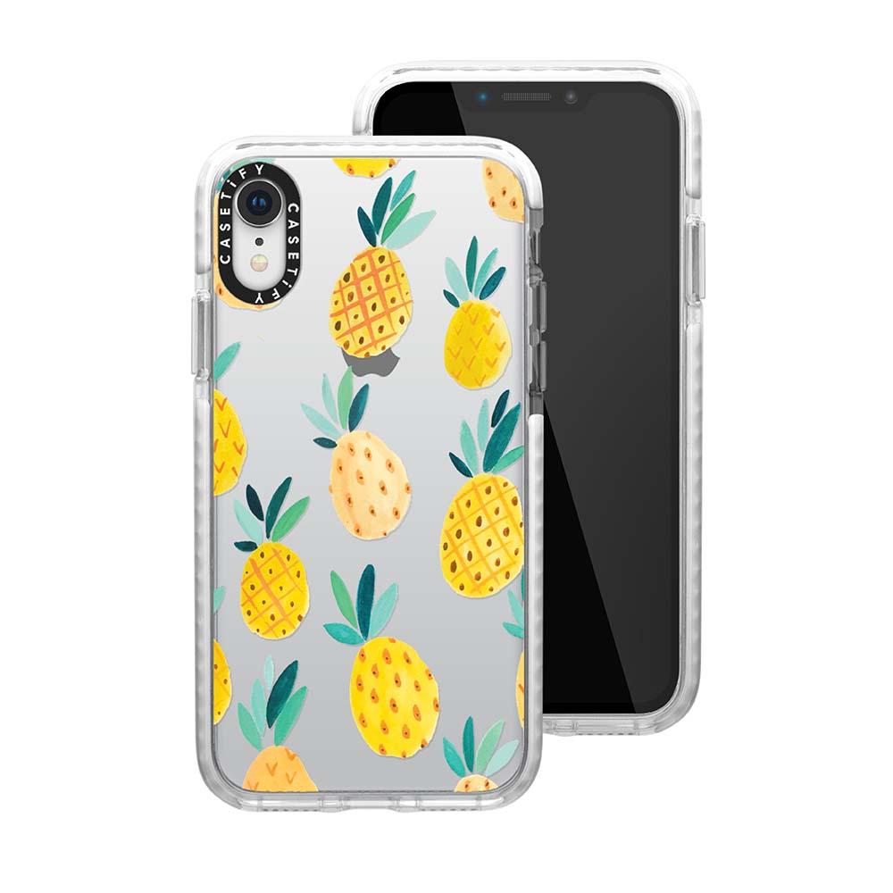 Casetify iPhone XR 耐衝擊保護殼-鳳梨派對