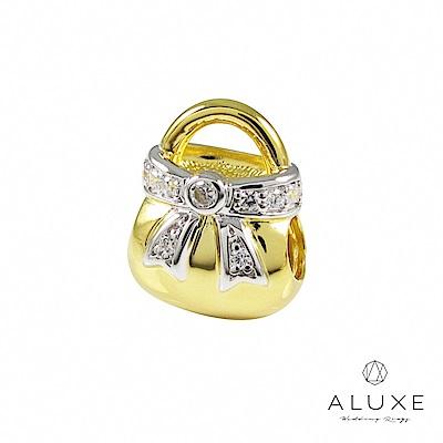 Charming系列 925純銀珠飾-金閃閃手提包 Sparkle hangbag