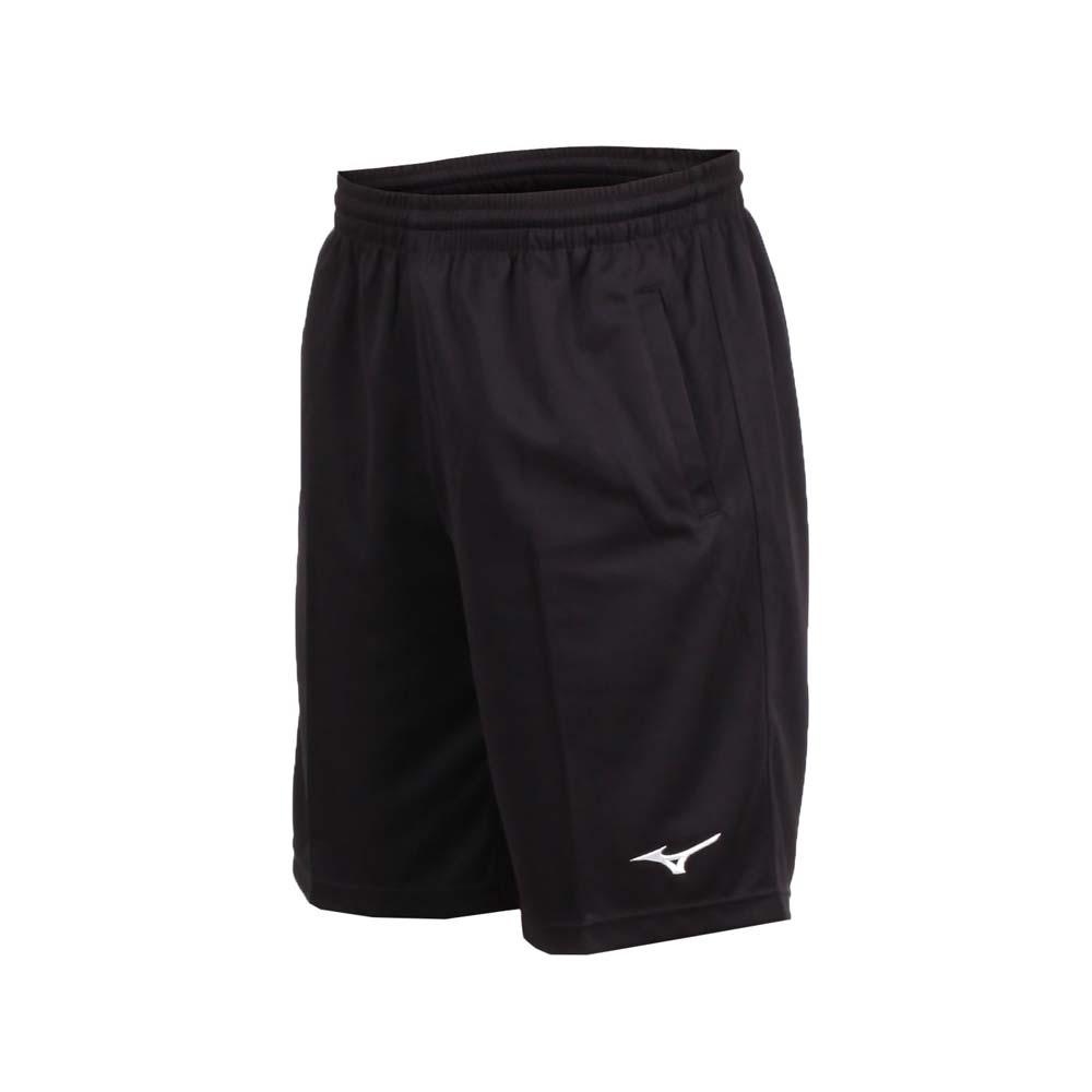 MIZUNO 男針織短褲-路跑 慢跑 健身 訓練 五分褲 美津濃 黑白