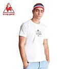 le coq sportif 法國公雞牌環法賽黃衫百年傳奇紀念聯名短袖T恤 男-白