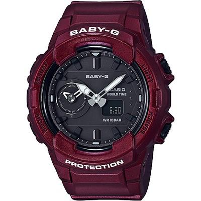 BABY-G 秋冬街頭時尚風格雙顯女錶-珠光暗紅(BGA-230S-4A)/42mm
