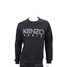 KENZO 豹紋印花字母黑色棉質運動衫(男款)