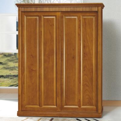【AS】楠檜柚木色<b>5</b>.<b>5</b>×7尺衣櫥-160.5x65x210cm