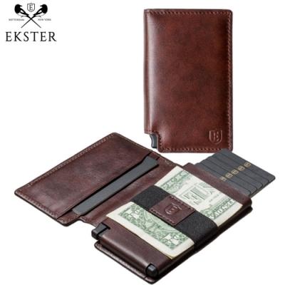 Ekster 荷蘭x紐約設計品牌 經典真皮RFID防盜皮夾 深咖啡色