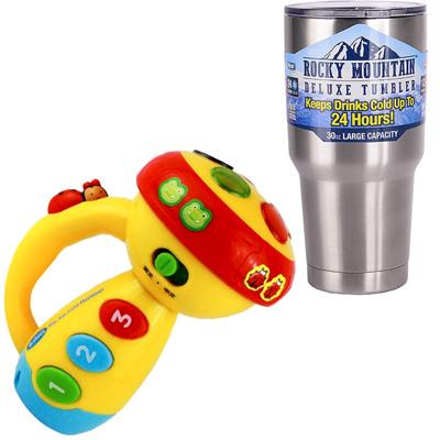 《Funny Flashlight》音樂聲光手電筒造型玩具+冰霸杯組