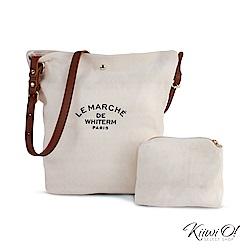 Kiiwi O! bucketbag | 簡約帆布水桶子母包 原色