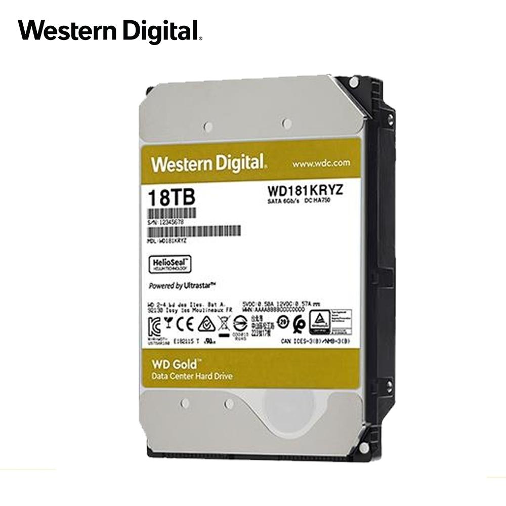 WD 金標 18TB 3.5吋企業級硬碟 WD181KRYZ