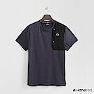 Hang Ten - 男裝 - Thermo Contro 拼接造型T恤-藍色