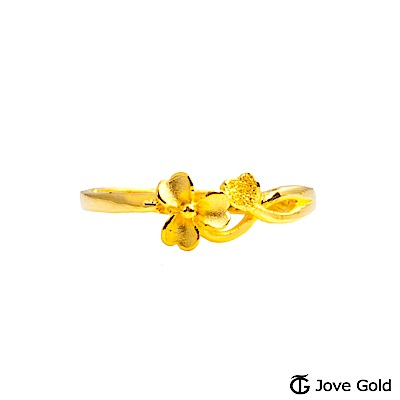 Jove gold 戀戀花開黃金戒指