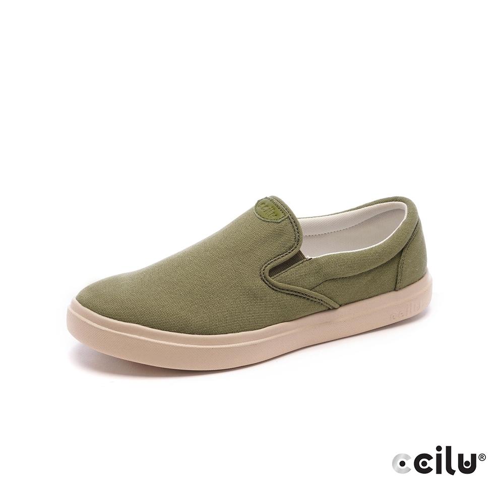 CCILU再生咖啡渣超輕量休閒鞋-男款-301353173抹茶綠