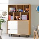 D&T 德泰傢俱 KOMA北歐簡約4尺書櫃 -121x40x175cm
