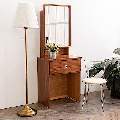時尚屋  珀莉2尺雙拉鏡台-含椅子(五色可選)