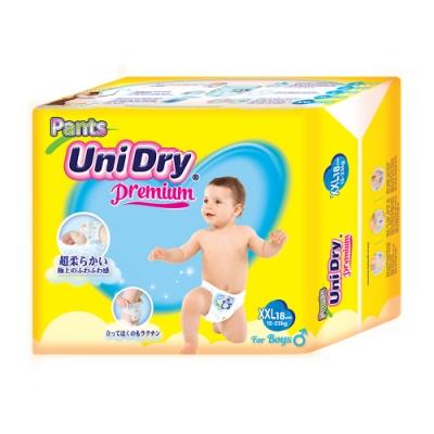 Unidry優力褲 嬰兒褲型紙尿褲特級版男生版XXL(18片x8包/箱)(嬰兒紙尿褲 褲型紙尿褲)