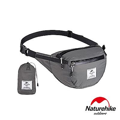 Naturehike 6L云雁超輕量防潑水折疊運動腰包 胸前包 灰色-急