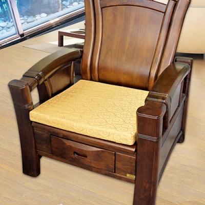 凱蕾絲帝 高支撐記憶聚合緹花坐墊/沙發墊/實木椅墊54x56cm-富貴金(二入)