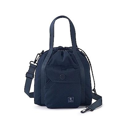 PORTER - 濃縮記憶LAPSE手提斜背兩用水桶包(S) - 深藍