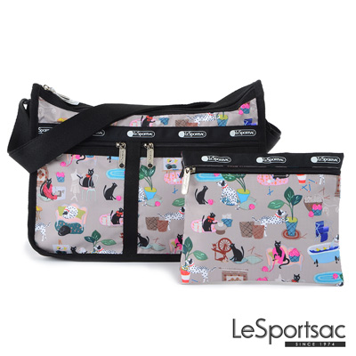 LeSportsac - Standard雙口袋A4大書包-附化妝包 (毛孩愛搗蛋)